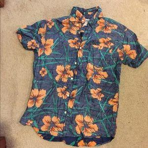 Men's Floral Button-Up